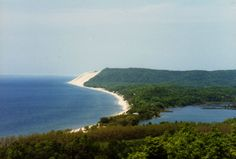 Sleeping Bear Dunes National Lakeshore is a United States National Lakeshore located along the northwest coast of the Lower Peninsula of Michigan in Leelanau County and Benzie County.