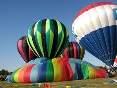 """hot air balloons"" by upthedubs1 on Flickr - hot air balloons at Holly, Michigan"