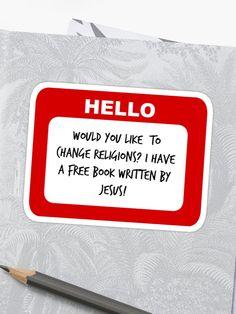 Hello My Name Is Regina Phalange Sticker Stickers