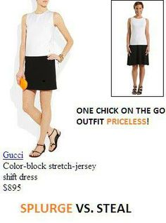 Splurge vs. Steal...get the same look from Chick on the Go for a fraction of the cost! Go buy your Chick on the Go now!