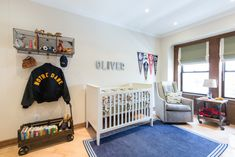 Vintage Sports Nursery with Modern Details - great space!