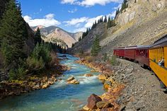 A miner's river      The Durango & Silverton Narrow Gauge Railroad travels 45 miles each way along the Animas River from Durango to Silverton, an old mining town high in the San Juan Mountains, USA