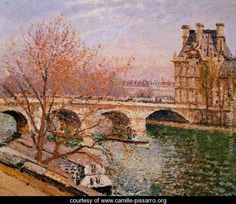 The Pont Royal and the Pavillion de Flore - Camille Pissarro - www.camille-pissarro.org