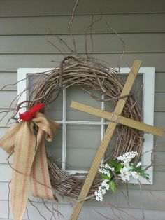 Easter wreath. Simple and cute.