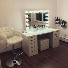 49 Super Ideas Diy Desk Vanity Make Up Ikea Alex desk vanity 49 Super Ideas Diy Desk Vanity Make Up Ikea Alex - Ikea Vanity, Vanity Room, Vanity Desk, Makeup Desk, Makeup Vanity Mirror, Vanity Mirrors, Diy Makeup, Makeup Tables, Makeup Vanities