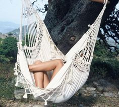 Brasil Hanging Chair Ecru Large An Unbleached Cotton With A Simple Fringe