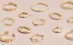 Shop gold plated hoop earrings from $35 AUD Gold Hoop Earrings, Gold Hoops, Bangles, Bracelets, Aud, Jewelry Box, Shop, Jewellery Box, Jewel Box