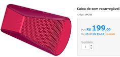 Caixa de Som Recarregável Logitech X300 Bluetooth Vermelha >