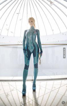 Perfect Samus cosplay