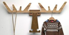 Moose sweater rack, for all my moose sweaters.
