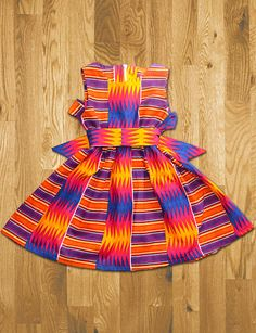 Children's Dress sizes 6 months 8 years by LeenrayDesigns on Etsy African Dresses For Kids, African Children, African Women, African Print Fashion, Africa Fashion, African Prints, African Attire, African Wear, African Outfits