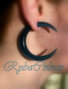 Fake ear gauge / Faux gauge/Gauge earrings / fake by RybaColnce