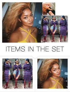 """*doing her hair -AFrika"" by pandababy17 ❤ liked on Polyvore featuring art"