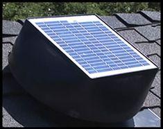 Attic Fans. Solar Powered Fan Attic Ventilation System from NuLight Solutions.