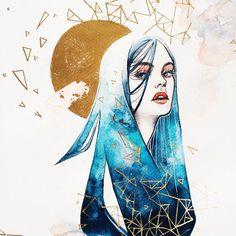 Hieu Nguyen, better known by his alias Kelogsloops, is an Australian watercolor artist. Kelogsloops also makes digital drawings. Character Art, Character Design, Watercolor Artwork, Watercolour, Oeuvre D'art, Art Inspo, Art Girl, Painting & Drawing, Amazing Art