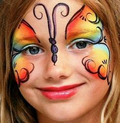 Maquillaje Infantil y Caritas Pintadas, Mariposas