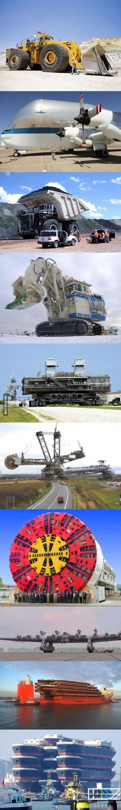 Seriously big machines.