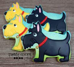 Scottie doggie cookies by Funky Cookie Studio