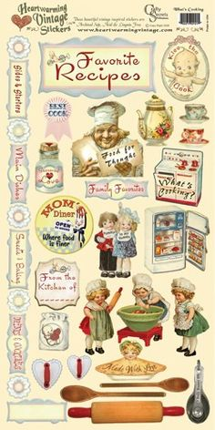 """vintage Scrapbooking Stickers 