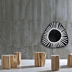 Gervasoni Brick Hocker | AmbienteDirect Wicker Furniture, Table Furniture, Furniture Design, Side Coffee Table, Coffee Table Design, Side Tables, Small Tables, Dining Tables, Pouf Design