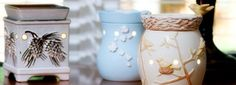 Premium Warmers - Extra time and care is required to create Scentsy's Premium Full-Size Warmers. Hand painting, multiple glazes, decorative ornaments, and distinctive shapes combine to create one-of-a-kind, intricate works of art.