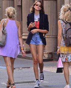 💌pinterest ↠ @lexibolster💌 60 Fashion, Cool Street Fashion, Fashion Outfits, Womens Fashion, Style Fashion, Capri Outfits, Cool Outfits, Summer Outfits, Kaia Gerber