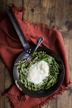 Egg and Blistered Green Bean Skillet by naturallyella #Eggs #Green_Beans #Healthy