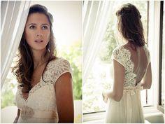 Custom Made Open Back Full Lace Wedding Dress