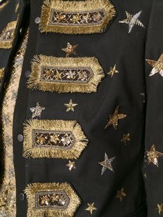 Valentino star embroidered band jacket