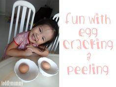 Egg peeling  - great practical life!