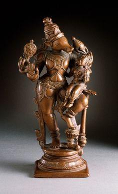 Varaha, the Boar Avatar of Vishnu  India, Tamil Nadu, circa 1600 Copper (via Los Angeles County Museum of Art / LACMA)