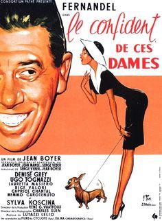 LE CONFIDENT DE CES DAMES Cinema Posters, Film Posters, Love Posters, Love Movie, Drama Movies, Paris, Vintage Movies, Confidence, Marseille