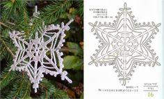 free instructions crochet snowflake – Snowflakes World Crochet Snowflake Pattern, Christmas Crochet Patterns, Holiday Crochet, Crochet Snowflakes, Christmas Snowflakes, Crochet Motif, Christmas Knitting, Crochet Angels, Crochet Stars