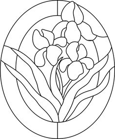 Irises Pattern For Stained Glass