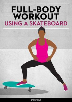 Grab your kid's skateboard (or your own), and skate your way through a tough full-body routine. The instability of the board's wheels will engage your core and activate the stabilizing muscles of your shoulders, hips and ankles.