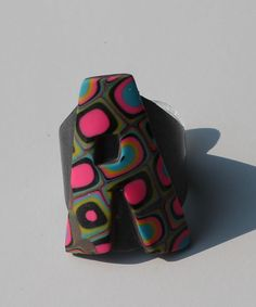 Polymer Clay Ring Klimt Inspired Letter A by SunshineTextiles, $15.00