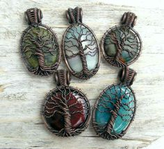 ☮ American Hippie Bohemian Style ~ Boho Jewelry .. Tree of Life Necklaces!