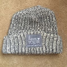 Love Your Melon Grey Knit Hat Never worn 404a193b7518