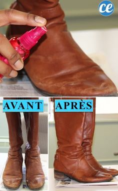 First, stuff the toe to fully spread out the leather for a thorough cleaning. How to remove salt stains from boots! ~ 31 Clothing Tips Every Girl Should Know Diy Cleaning Products, Cleaning Hacks, Cleaning Schedules, Cleaning Solutions, Dandy, Beste Jeans, Do It Yourself Inspiration, Do It Yourself Fashion, How To Remove