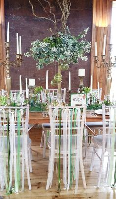 hire your tables centres, woodland fake & fresh