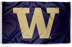 UW Huskies Big W Flag