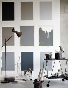 + Color family as wall decoration ...