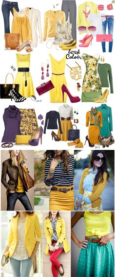 Oh my goodness, look at all that beautiful yellow! Style Casual, Casual Outfits, Cute Outfits, Fashion Outfits, My Style, Womens Fashion, Work Fashion, Fashion Advice, Fashion Design