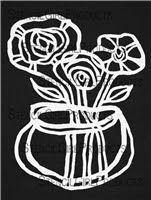 9x12 Spring Flower Vase Stencil / Mask by Suzi Dennis | StencilGirl Products