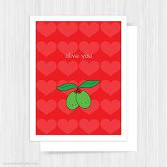 Valentine Card For Boyfriend Girlfriend Husband by SunnyDoveStudio