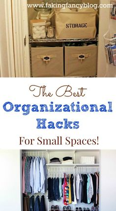 I love these organizational tips and tricks for making small spaces look bigger. I can use them in my small closets and even smaller bathrooms! Great for my apartment dwelling friends!