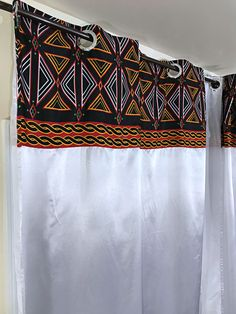 Our awesome African Print window curtains transform a neglected essential into an awesome statement piece. Printed Curtains, White Curtains, Window Curtains, African Home Decor, Decorative Items, Product Description, Red, Shopping, Collection