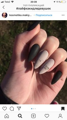 Gorgeous New Nail Designs Ideas to Try Nail De. - Gorgeous New Nail Designs Ideas to Try Nail Design - Cute Acrylic Nails, Matte Nails, Pink Nails, My Nails, Black Nails, Pink Nail Designs, Acrylic Nail Designs, Nails Design, Gel Nagel Design