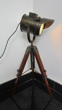 INDUSTRIAL STYLE VINTAGE MOVIE SPOT LIGHT FLOOR STANDING DESK LAMP   eBay
