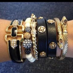 Black and gold arm stack!
